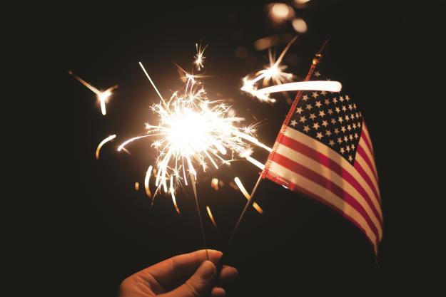 Flag & Fireworks