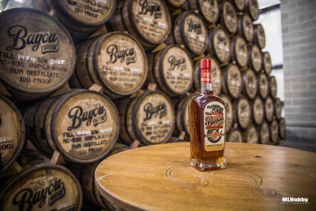 Bayou Rum Bottle with Barrels | Michael Hobson