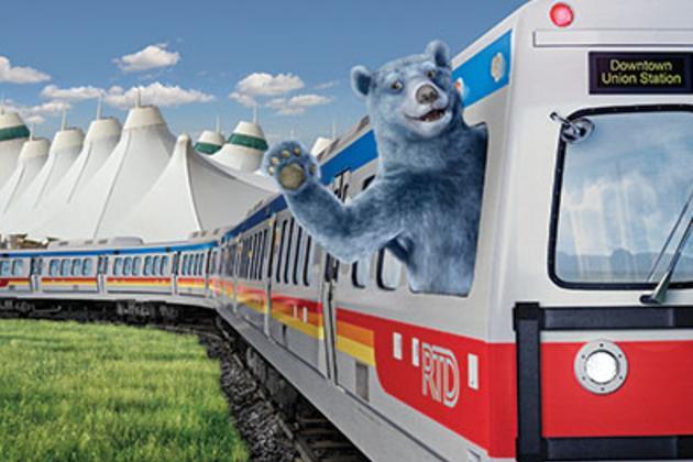 Airport Rail Blue Bear