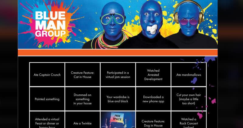 Blue Man Group Bingo