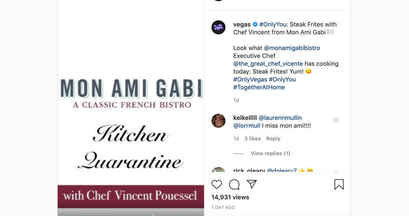 Chef Vincent from Mon Ami Gabi