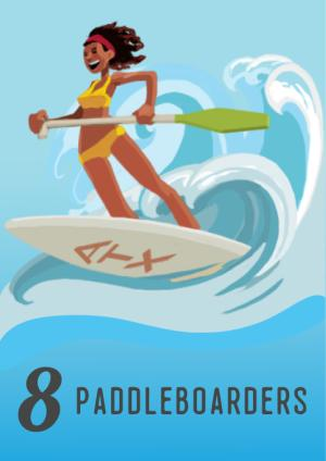 12 Days in Austin, Paddleboarders