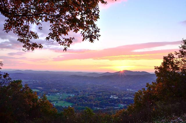 Sunrise on Roanoke Mountain - Fall Photo