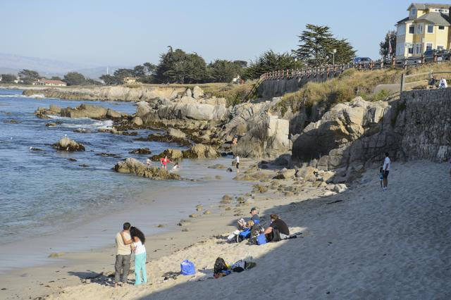 Locals Can Always Be Found Lounging On The Gr At Pacific Grove S Well Groomed 4 Acre Point Park Many Visitors Climb Rocks For