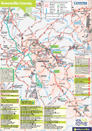 GREENVILLE COUNTY MAP