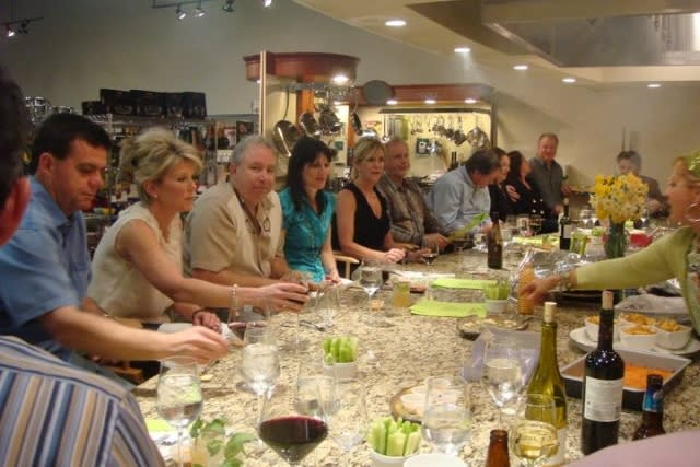 Group sharing meal at Simplee Gourmet in Covington Louisiana
