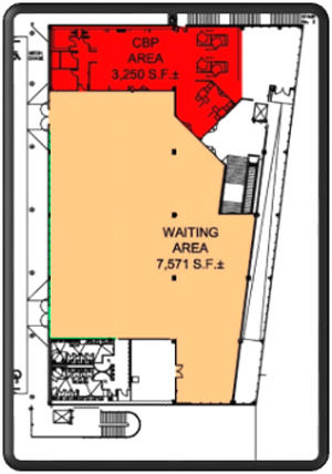 Map of Cruise Terminal 29 second floor layout
