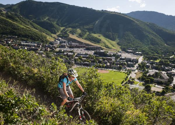 Mountain Biking Over Town