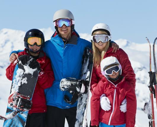 Family Posing Top of Mountain