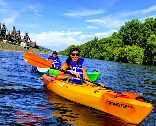 Kayaking the Lehigh River past Bethlehem Steel