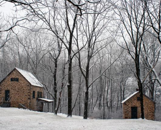 Henry's Forge In Snow