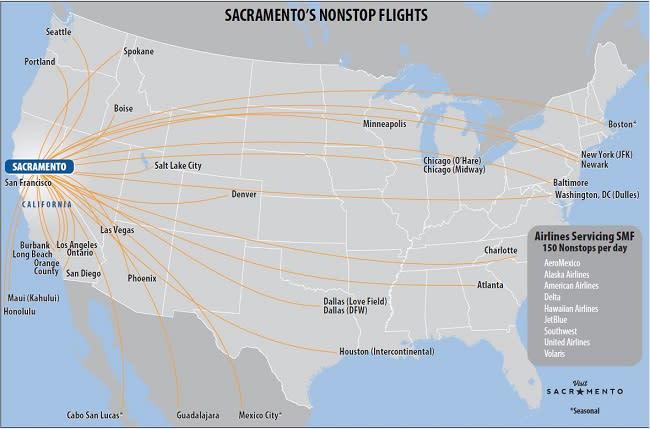 Nonstop Flight Map 650