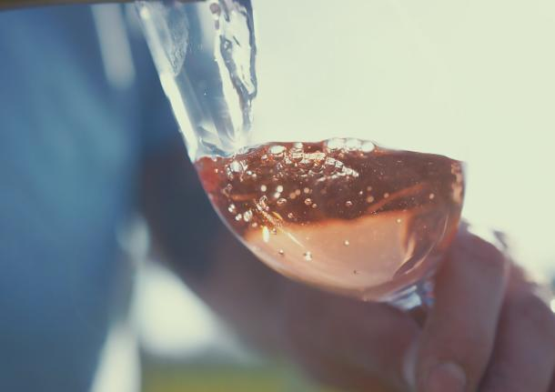 Wine Pouring in Glass