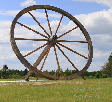 World's Largest Wagon Wheel in Fisher Branch, Manitoba