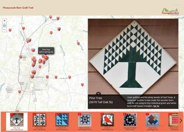 Piney woods barn quilt trail