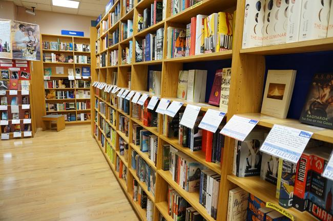 Books lining the shelves at BookPeople. Photo courtesy of BookPeople.