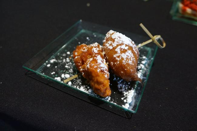 donut chicken skewer