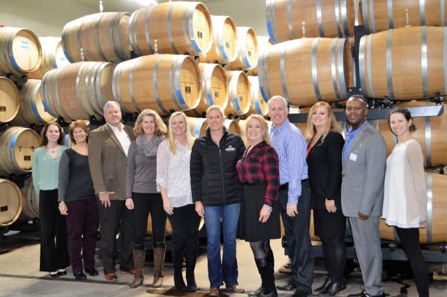Picture of the Prince William County Tourism Advisory Board at Effingham Manor Winery