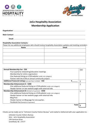 Hospitality Association Application