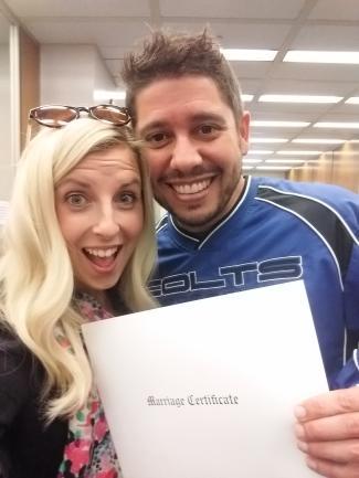 Rose & Matt marriage certificate