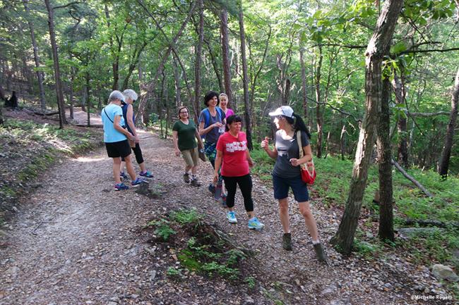 Michelle Rogers leads ladies hike at Occoneechee MTN