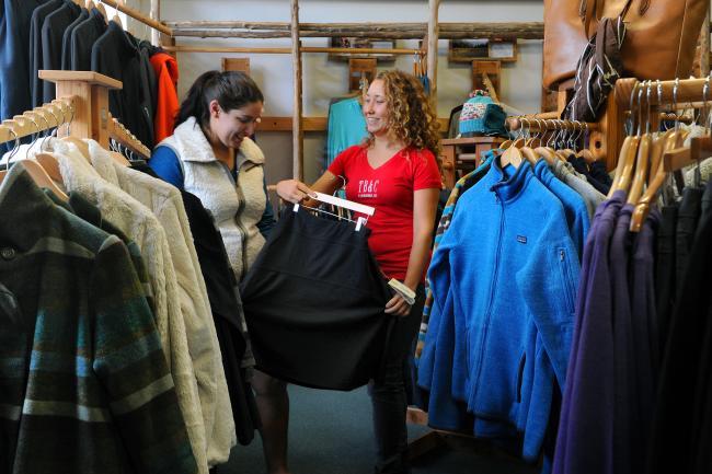Townsend Bertram - Kelli Avalos, Betsy Bertram in Carr Mill Mall.JPG