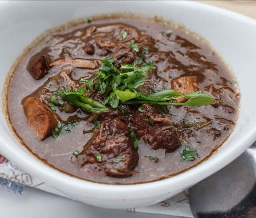 Duck & Andouille Gumbo from Walk On's Bistreaux