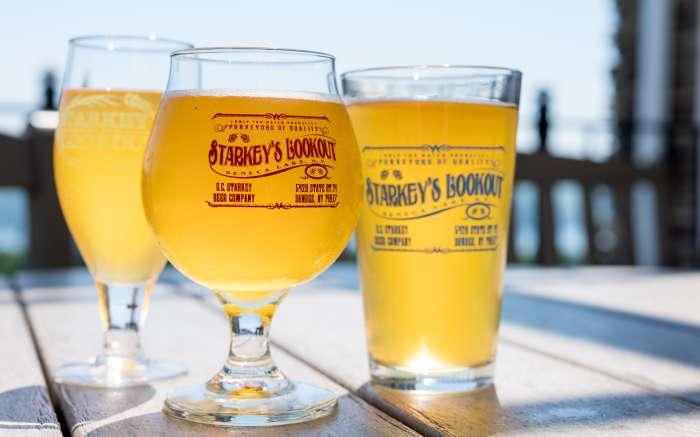 Starkeys Lookout beer glasses