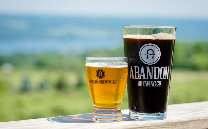 Abandon Brewing beer glass