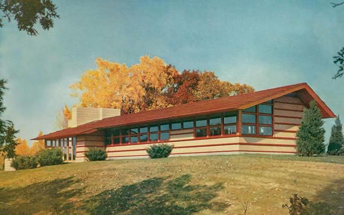 Frank Lloyd Wright's Duncan House at Polymath Park Rendering
