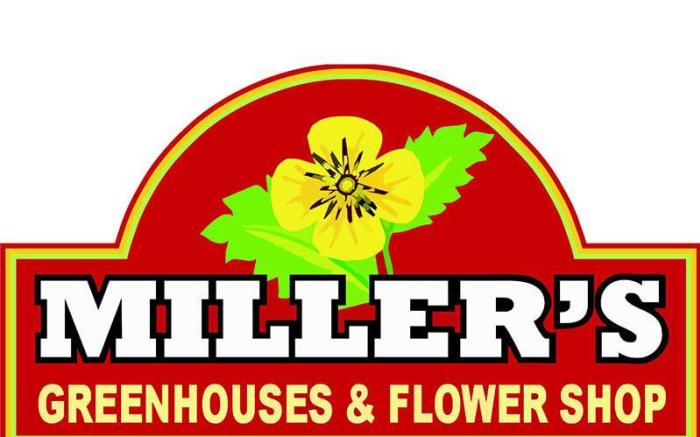 Miller's Greenhouses & Flower Shop Logo