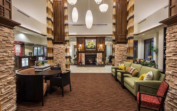 Bright and comfortable lobby area