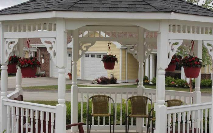 Our independent living residents enjoy the gazebo all year round!