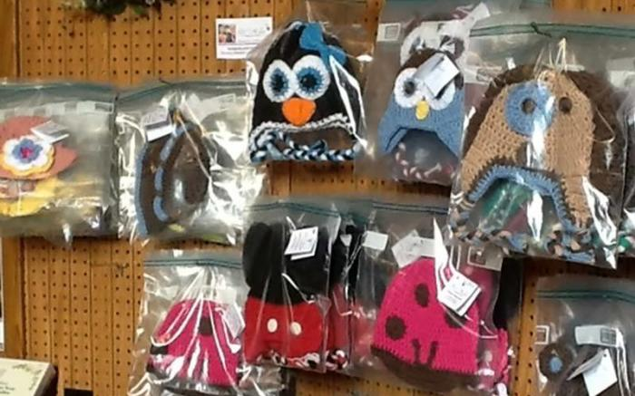Hand-crocheted hats