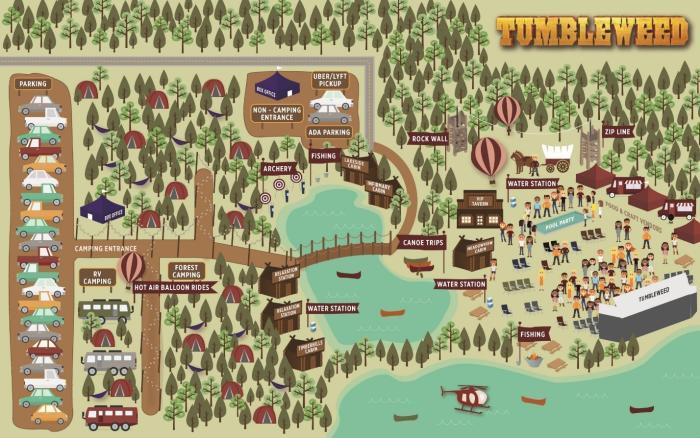 Tumbleweed Festival Map