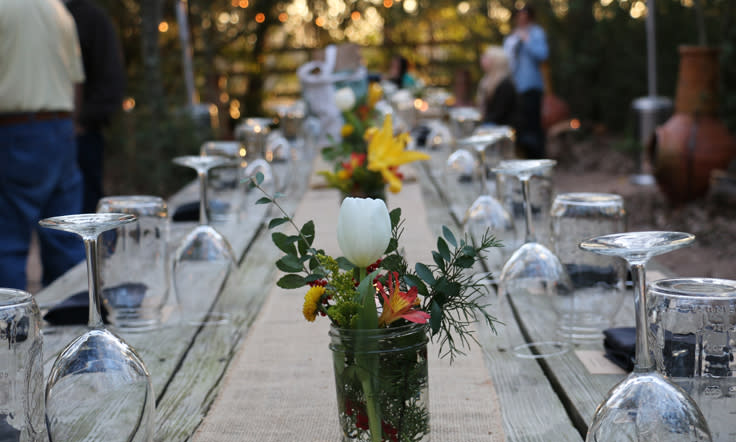Fine Dining Table Outdoors