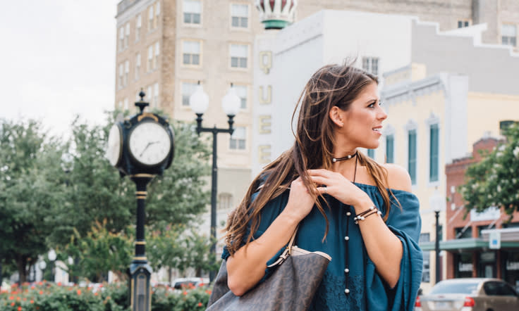 Fashionable Women in Historic Downtown Bryan
