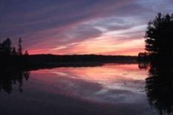 Sunset on Lake Dubonnet
