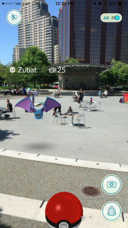 Cathing Pokemon in Rosa Parks Circle Grand Rapids, MI