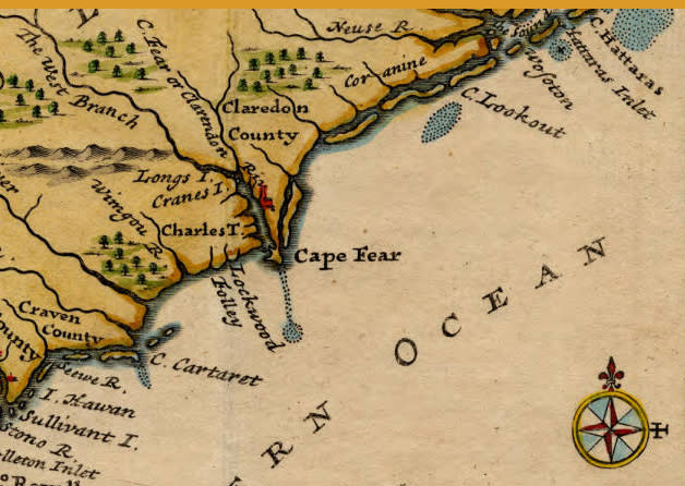 Old Map Cape Fear River