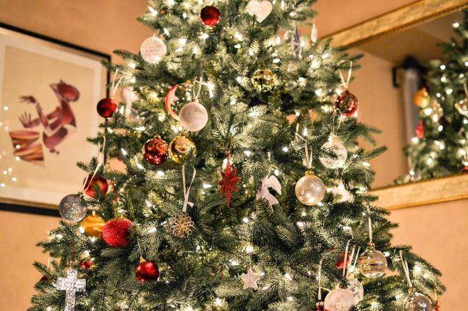 christmas tree with lights generic photo wichita ks