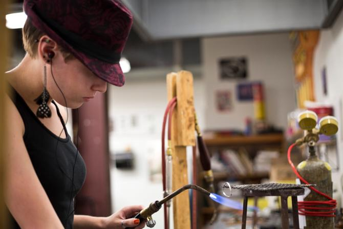 Learn metalworking and silversmithing at Mark Arts in Wichita KS