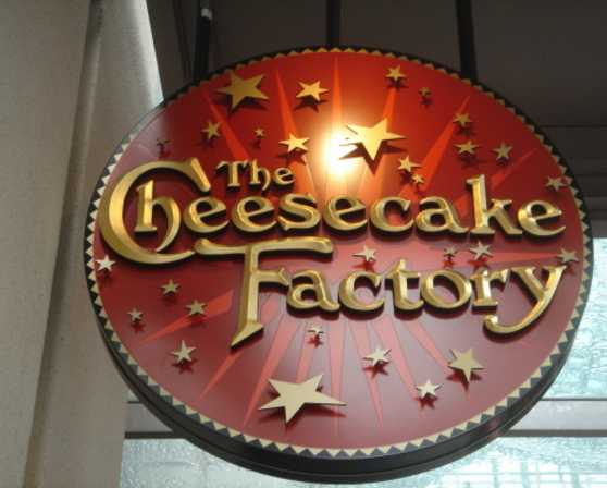 Cheesecake Factory Sign