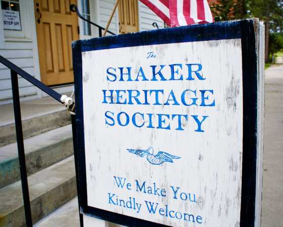 Shaker Heritage Society Sign