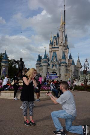 Rose & Matt engagement at Disney World