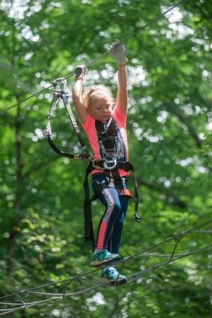 Girl at ZipZone Adventure Park