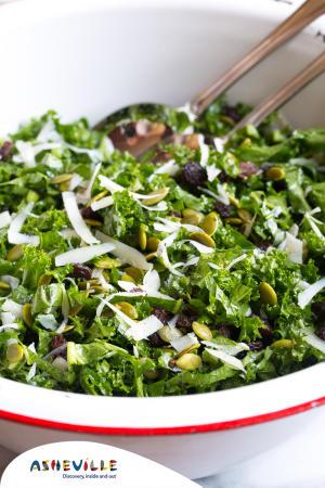 Manchego Kale Salad #Recipe | ExploreAsheville.com