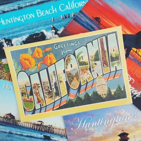 There are a many different styles of Huntington Beach postcards to choose from! (Photo by jesipineda / Instagram)