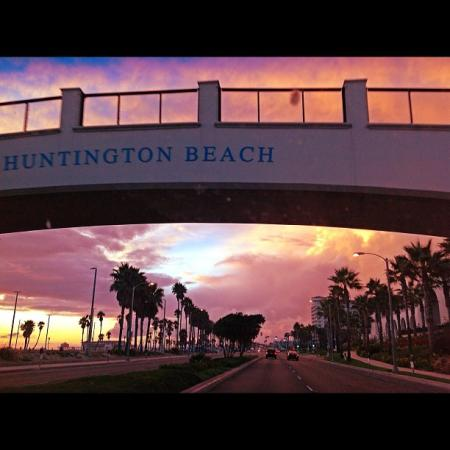 Watch the sunset from under the Huntington Beach bridge connecting to the Hyatt Regency! (Photo by timncinhb2 / Instagram)