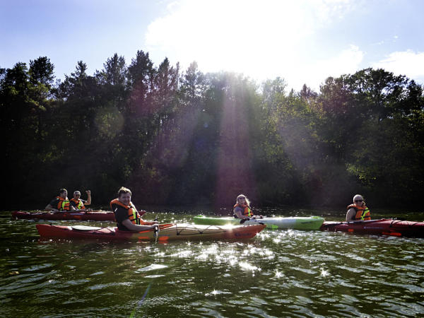 Kayaking Down the Eau Claire River - Kaitlyn Bryan